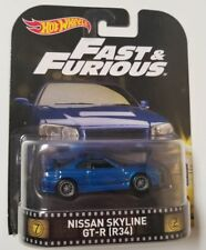 Hot Wheels Nissan Skyline Gt-r R34 Retro 2017