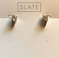 NEW Slate Crystal Spike Studs In Gold
