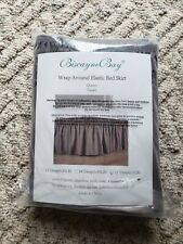 New ListingBiscayne Bay Ivory Wrap Around Elastic taupe Bed Skirt Queen Full New