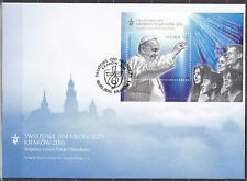 POLAND 2016 FDC SC# S/S - World Youth Day - Cracow 2016 -