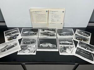 RARE Vintage Original 1988 BMW PRESS RELEASE Automobile Car Sales BROCHURE M3 M6