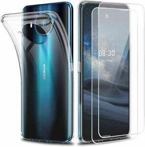 For Nokia 8.3 5G Case Clear Gel Cover & Glass Screen Protector