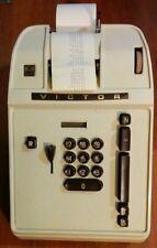 VINTAGE VICTOR ADDING MACHINE CALCULATOR ELECTRIC RECEIPT ROLL MOD 17 85 54 RARE