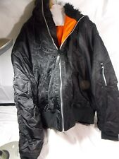 Knox Armory Flight Jacket  w/attached faux fur-lined hood and snap pockets, XXL