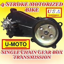 Parts for 49cc engine motorized Bike 4-stroke Single Chain Gear Box Transmission