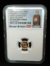 2017 Great Britain Pistrucci Gold Proof 1/4 Sovereign NGC ER PR70 Ultra Cameo