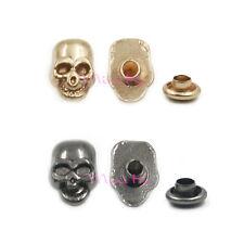 10/50/100 X 9 Kinds Skull Crossbones Clips Eyelet Studs Spikes Rivet Spots DIY