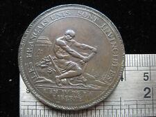More details for france french revolution 1792 medal coin 5 sols, high grade