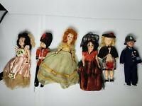 Vintage Lot of 6 Dolls - Sleepy Eye Retro Estate Sale Find England Irish soilder