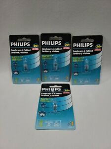 Lot of 4 Philips Desk And Cabinet 20 Watt Halogen Bulb G4 BASE T3