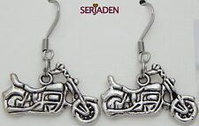1 Pair Antique Motorcycle Earrings 25 x 31mm long Nickle Lead Cadmium Free ER004