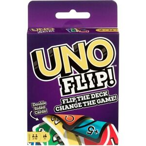 UNO FLIP Card Game double sided cards Family Fun