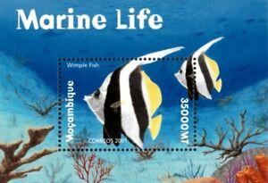 Mozambique 2001 - Marine Life Wimple Fish - Souvenir Sheet - Scott 1412 - MNH