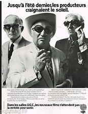 Publicité Advertising 1973 Les Salles de cinéma UGC
