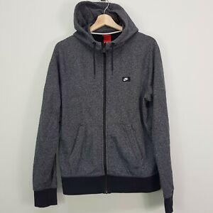 NIKE Mens Size M  Grey Zip Up Hoodie Jacket With Shoebox Logo