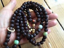 Rare Tibetan Antique Buddhist Authentic Mala Prayer Beads Jade Coral