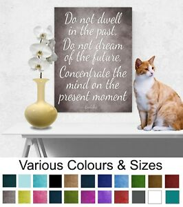 Buddha Picture Inspirational Quote Print Wall hanging Canvas Buddha Home Décor