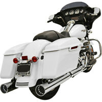 """Harley Bassani Escape Dnt Recto Can Slip-On Silenciadores 4"""" Touring 17-20 Cromo"""