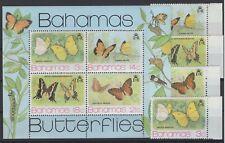 BAHAMAS, FAUNA, STAMPS, 1975 Mi. 378 - 381 + BL. 13  **