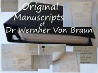 Wernher Von Braun Signed Space UFO's Rocket Apollo 11 NASA Manuscript Collection