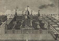 ESCORIAL Schlossansicht schöner Kupferstich 1826 Original!