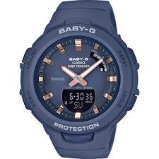 Orologio  Casio donna Baby-G in resina blu  indici ramati BSA-B100-2AER