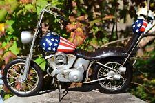 Handmade Tin Motorcycle Model - Harley Davidson Captain America Easy Rider Metal
