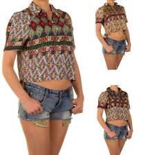 Bauchfreie Damenblusen,-Tops & -Shirts im Blusen-Stil mit Polyester