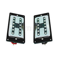 Guitar Humbucker Neck Bridge Pickups Set For Electric Parts Chrome