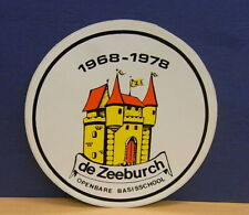 1x Sticker - Decal Basisschool de Zeeburch 1978 with org.back 70's (1931)