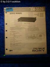 Sony Service Manual XM 3520 Power Amplifier (#2835)
