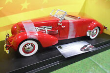CORD 812 Convertible rge cabriolet 1937 1/18 AMERICAN MUSCLE ERTL 32158 voiture
