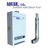 AQUAH DIRECT VENT LIQUID PROPANE GAS TANKLESS GAS WATER HEATER 10L / 2.65 GPM
