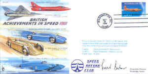 CC59 British Acheivements in Speed cover flown Hawker Hunter and signed by pilot