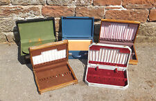 Job Lot 5 CUTLERY BOXES Box WOODEN Tray VINTAGE Case PORTABLE Mixed LINED