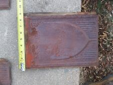 """VINTAGE ANTIQUE ROOFING TIN SHINGLE LOT SHIELD EMBOSSED 13 1/2"""" X 9 1/2"""""""