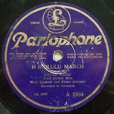"DAVID KAILI-HONOLULU MARCH+A SONG OF INDIA AUSTRALIAN OZ PARLOPHONE A-2464 10""78"