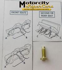 """GM SEAT BELT BOLT- 7/8"""" LONG  FACTORY CORRECT SHOULDER BELT  GOLD CAD PLATED 1pc"""