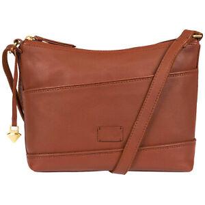 70% Off Brown Leather Shoulder Bag, Cross Body Bag