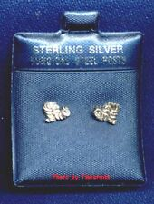 INCHWORM STERLING SILVER EARRINGS SURGICAL STEEL POSTS