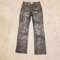 Hugo Buscati Black Leather Pants Women's Size 4