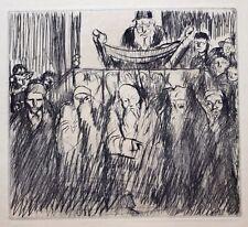 Frank William Brangwyn RA RWS RBA (1867-1956) Rabbi Torah reading. 1931