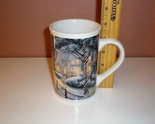 """2008Thomas Kinkade """"Hometown Christmas Memories"""" Tall Collector Coffee Mug-12oz"""