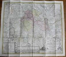 SEUTER HOMMAN 4 cartes entoilées BRANDEBOURG MISNIE LISENACH HIDELSHEIM 1730