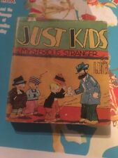 JUST KIDS & MYSTERIOUS STRANGER SOFTCOVER Saalfield Big Little Book 1324