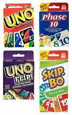Uno Phase 10 Skip-Bo Skip Bo Wild Flip Kartenspiel Karten Gesellschaftsspiel