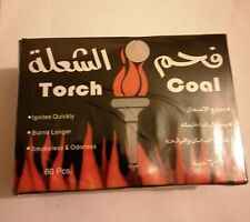 TORCH COAL SMOKELESS & ODOURLESS SHISHA HOOKAH CHARCOAL/ 60 PIECES
