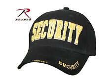 Security Guard Officer Gold Black Uniform Patrol Baseball Duty Hat Cap FITS ALL