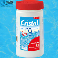 Cristal MultiTabs 1kg 5-in-1 Chlor-Komplettpflege Tabletten