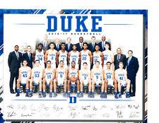 2017-2018 DUKE BLUE DEVILS 8X10 TEAM PHOTO BAGLEY ALLEN TRENT DUVALL